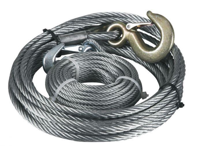 Câble pour treuil - 10 mètres - Diamètre 5mm - Avec crochet