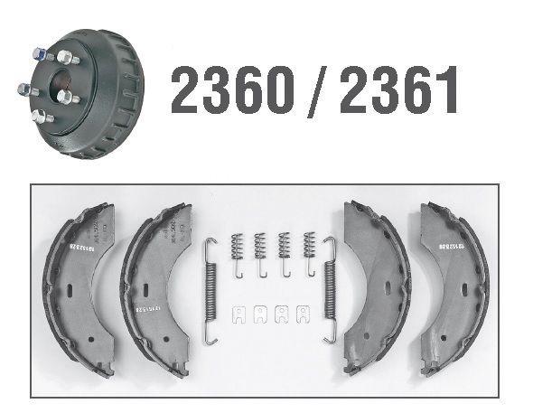 Kit Mâchoires de frein pour essieux ALKO 2360 / 2361