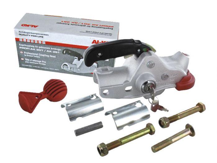 Boitier d'attelage pour tube rond - ALKO AK301 + accessoires