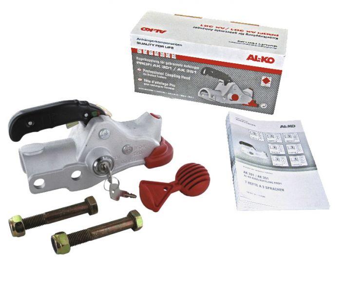 Boitier d'attelage pour tube rond - ALKO AK351 + accessoires