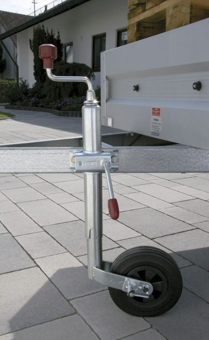 Roue Jockey avec PINSTOP ALKO Ø 48 - Galet plastique Ø 200x50 mm