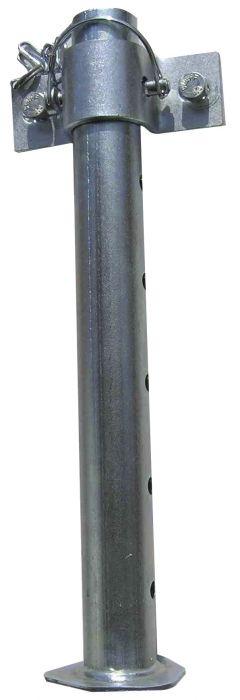 Béquille tube rond 42mm - Avec collier à broche
