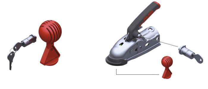 Antivol AL-KO safty-ball et serrure pour têtes AK161 / AK270