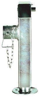 Béquille tube carré - Rabattable avec écrou 19 - Hauteur 40 cm