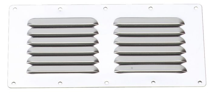 Grille d'aération - Inox - 230 x 115