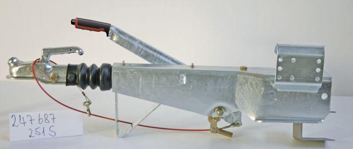 Tête Attelage Freinée pour timon carré 100 mm - ALKO 251S