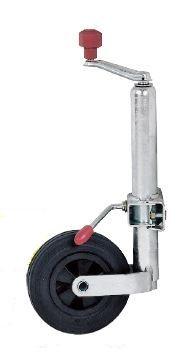 Kite roue Jockey compact ALKO Ø 48  + collier - Galet plastique Ø 200x50 mm
