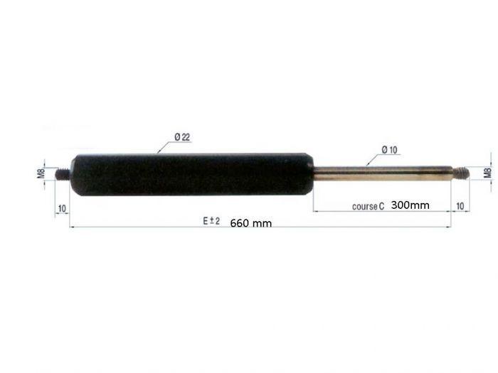 Vérin à gaz ALKO 280209 - force 300N