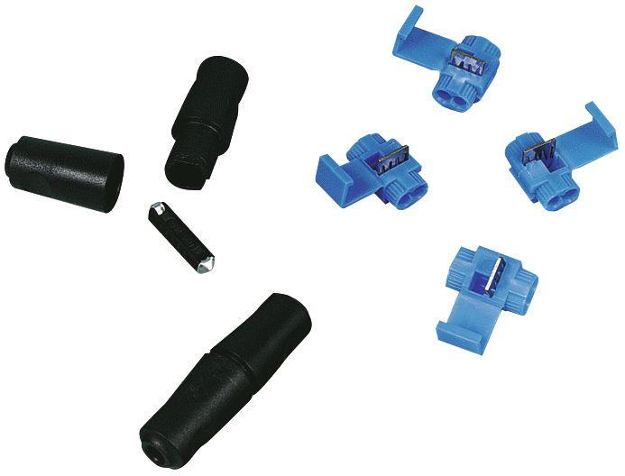 Porte fusible à pointes + fusible 8 ampères - Capacité 1 fusible
