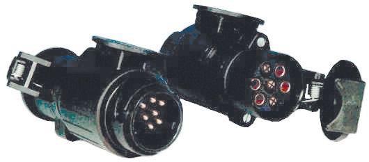 Adaptateur 13 broches voiture - 7 broches remorque - Monobloc