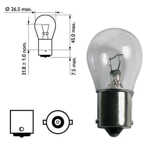 Ampoule pour feu de remorque - 12 volts 21 watts