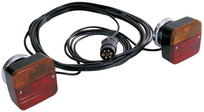 Eclairage arrière complet - 7.5m. - support magnetique