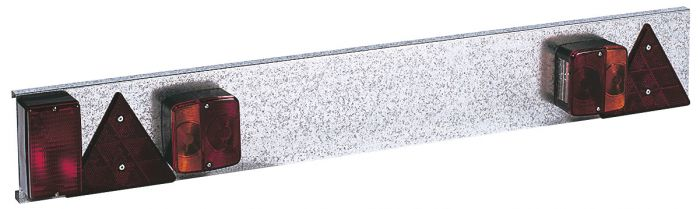 Plaque de feux métal pour remorque - 1m. - Feux anti-brouillard