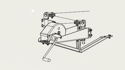 Kit treuil + support pour remorque LIDER 32750 / 34770