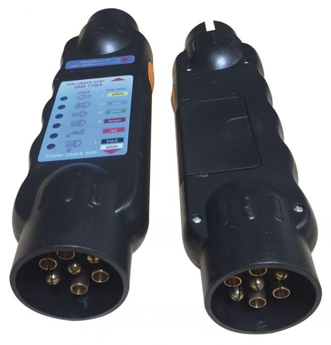 Testeur Electronique - Voiture et remorque - 7 broches - 12 Volts
