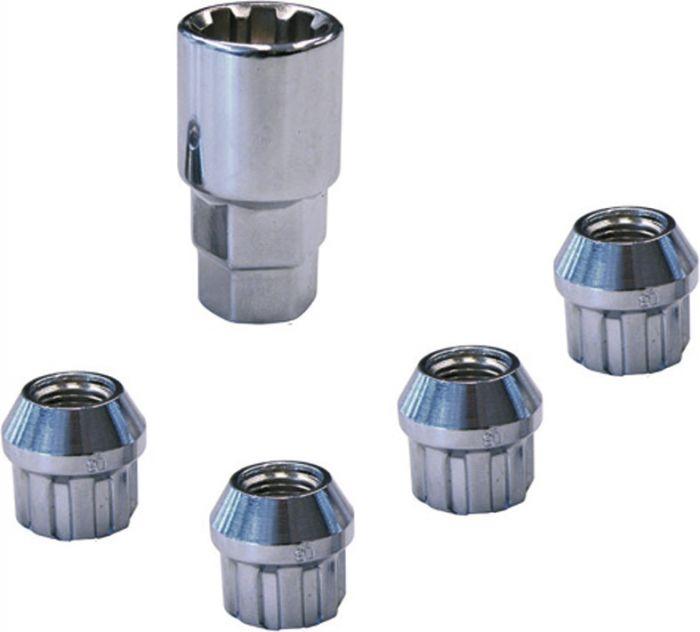 4 écrous antivol M12 x 1.5 conique