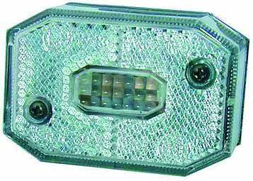 Feu de position ASPOCK - Blanc et rectangulaire - Catadioptre intégré - 5107