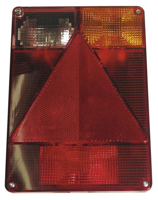 Cabochon Feu Arrière Droit Vertical + feu de recul - RADEX6800 - Ref 5236