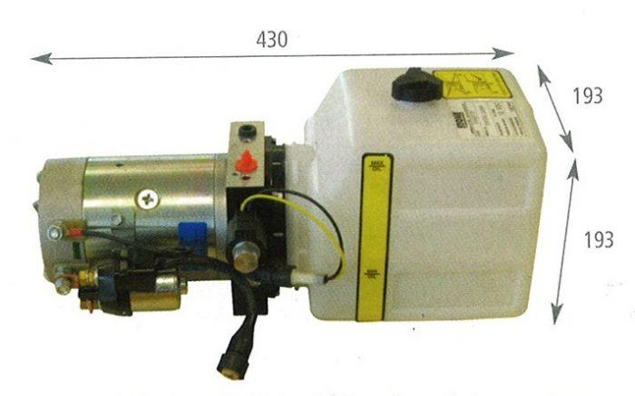 Pompe Electrique hydraulique 12 V - Réservoir 7 Litres - 3.5 T