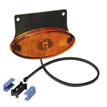 Feu lateral orange ASPOCK avec catadioptre et cable