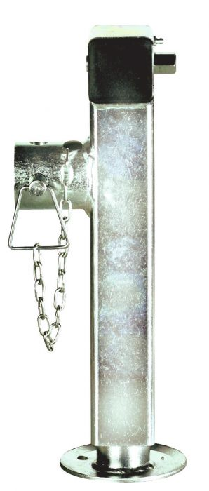 Béquille tube carré - Rabattable avec écrou 19 - Hauteur 28 cm