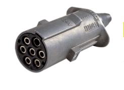 Fiche - 7 broches 24 V - Métal série S - ISO 1185