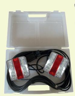 Eclairage arrière complet à Led pour remorque - 7.5 m - Support magnétique et valisette