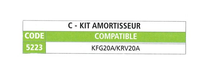 Kit amortisseur pour tête KNOTT KF20
