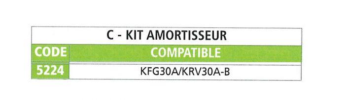 Kit amortisseur pour tête KNOTT KF27