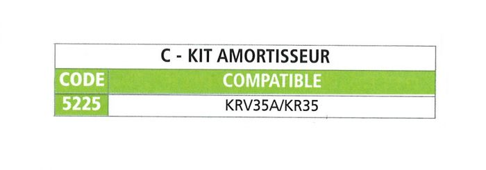 Kit amortisseur pour tête KNOTT KFG35