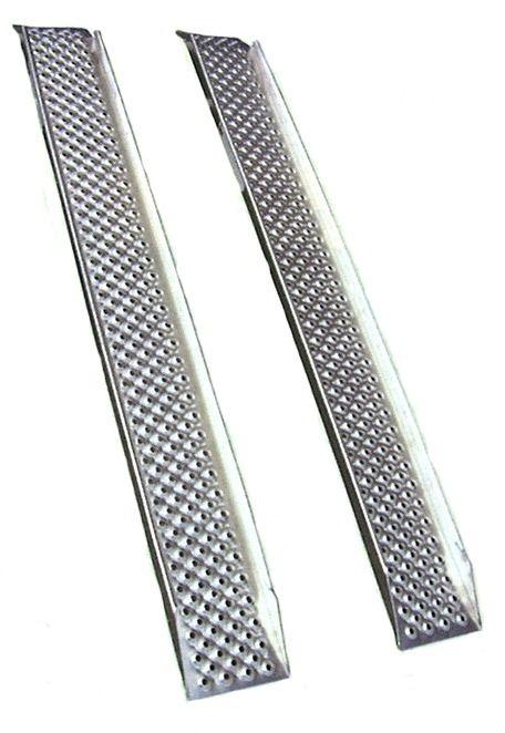 2 Rampes droites en aluminium avec rebords - 1.80 mètres - 400 kg