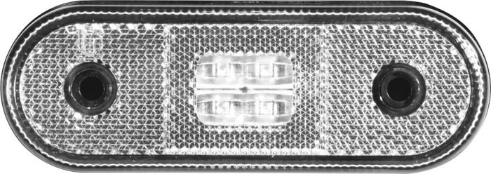 Feu blanc led 12/24v avec catadioptre et cable