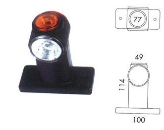 feu de gabarit JOKON rouge et blanc + feu de position lateral - LED 12/24V