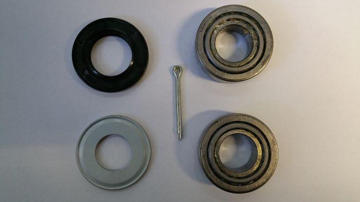 Kit roulements 30205 + joint spy + goupille  pour essieu RTN