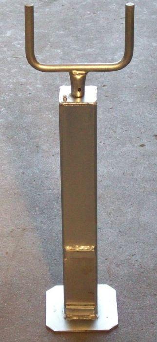 Béquille tube carré 70mm - Hauteur 505 à 825mm