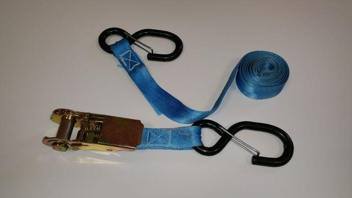 Sangle à cliquet avec crochet 1.80 m - Speciale moto - Crochet type ESSE