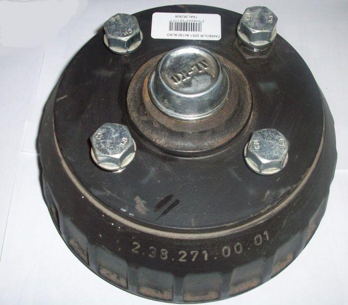 Kit Tambour complet - Roulement conique - 4 x 130 - ALKO 2050 et 2051