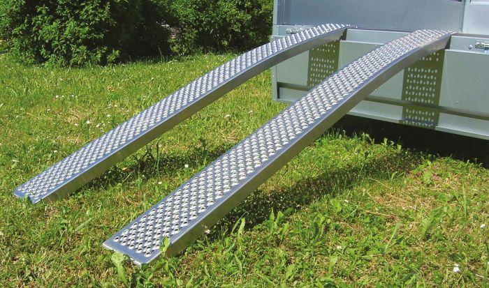 2 Rampes Aluminium courbées 2 mètres - 400kg