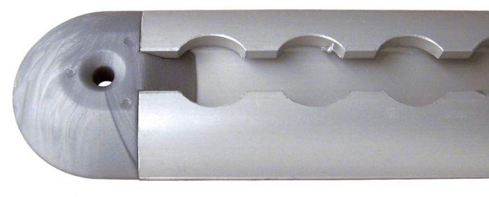 Plastique de finition gris pour rail alu AERO