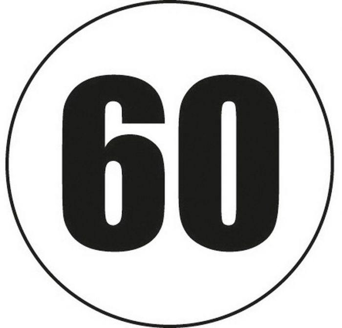 Disque adhesif 60 km/h
