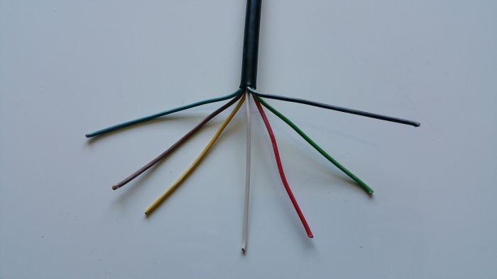 Câble électrique souple - 7 conducteurs - 7 x 1 mm²