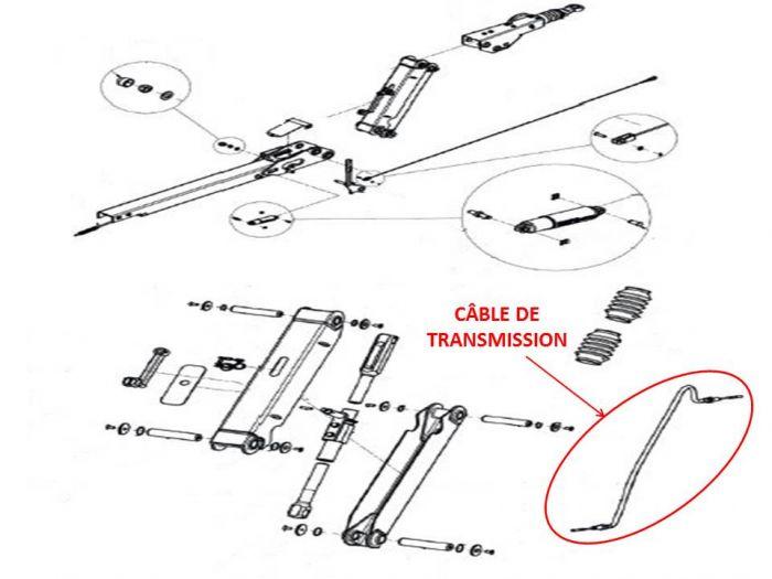 Câble de transmission - Tête KNOTT KHD25 / KHD35