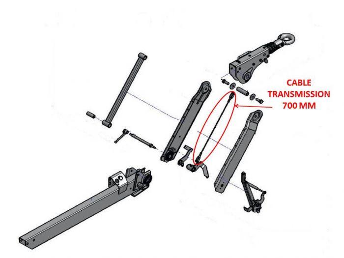 Cable transmission 700 mm AL-KO pour tête 161 VB 2 et 251 VB 2