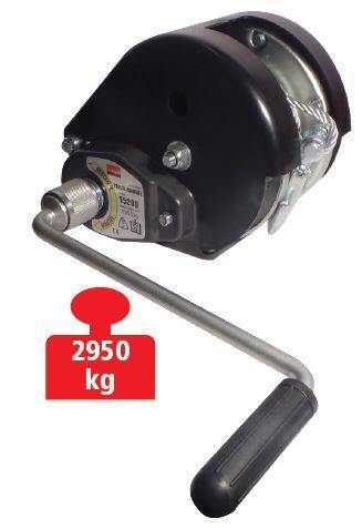 Treuil de halage TRAILERS EQUIPEMENT auto freiné - charge max. 2950 kg - Avec câble 10 m