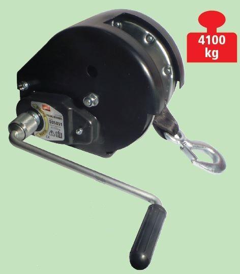 Treuil de halage TRAILERS EQUIPEMENT auto freiné - charge max. 4100 kg - Avec sangle 10 m