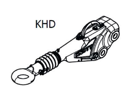 Tête d'attelage freinée - KNOTT KHD25 1600 à 2500 KG