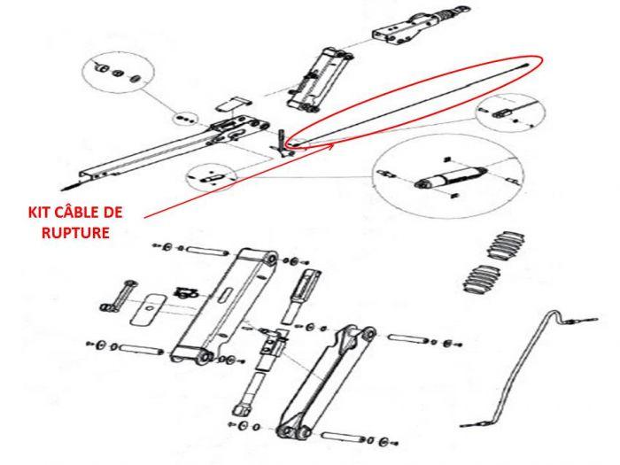 Kit câble de rupture KNOTT pour tête KHD15 - KHD25 - KHD35