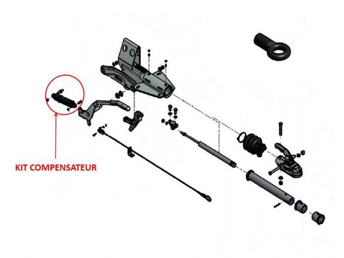 Kit compensateur KNOTT pour tête  KF 20 - KF 27 - AHV20