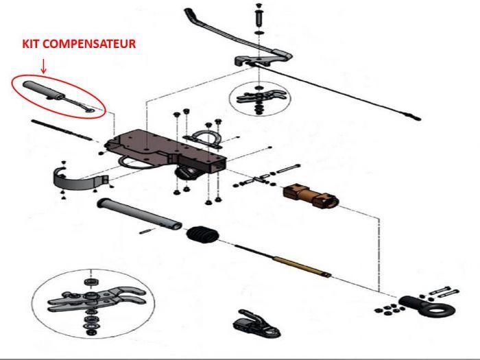Kit compensateur KNOTT pour tête  AHV25 / AHV35