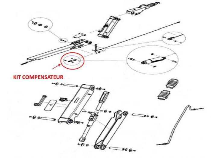 Kit compensateur - Tête KNOTT KHD15